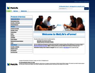eforms.metlife.com screenshot