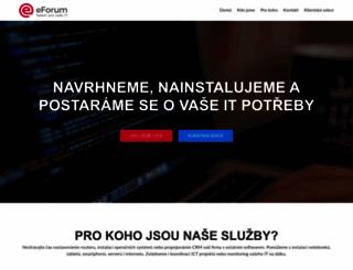 eforum.cz screenshot