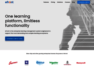 efrontlearning.com screenshot