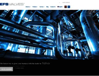 efsvalves.com screenshot