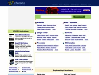 efunda.com screenshot