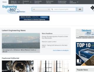 efunda.globalspec.com screenshot