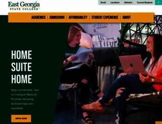 ega.edu screenshot