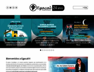 egacal.edu.pe screenshot