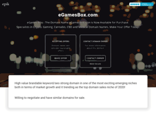 egamesbox.com screenshot