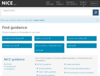 egap.evidence.nhs.uk screenshot