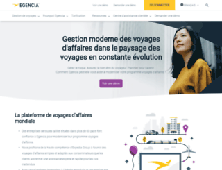 egencia.fr screenshot