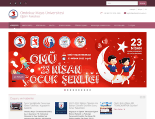 egitim.omu.edu.tr screenshot