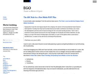 ego.posthaven.com screenshot