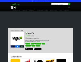egofm.radio.de screenshot