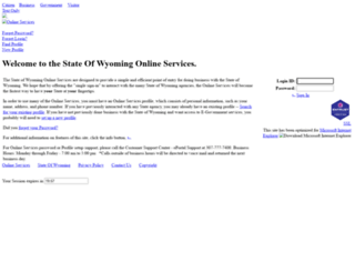 egov.state.wy.us screenshot
