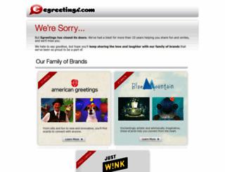 egreetings.com screenshot