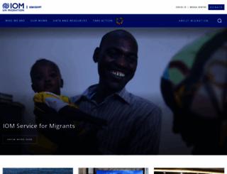 egypt.iom.int screenshot