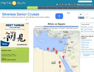 egypte.meteosun.com screenshot