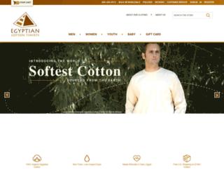 egyptiancottontshirts.com screenshot