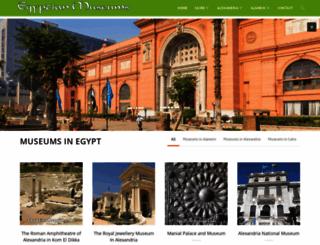 egyptianmuseums.net screenshot