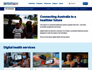 ehealth.gov.au screenshot