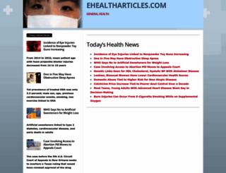ehealtharticles.com screenshot