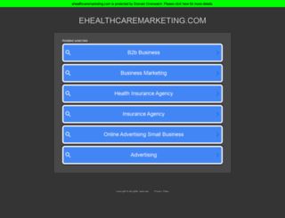 ehealthcaremarketing.com screenshot