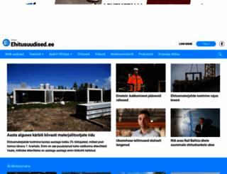 ehitusuudised.ee screenshot