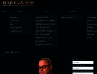 ehlinelaw.com screenshot