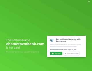 ehometownbank.com screenshot