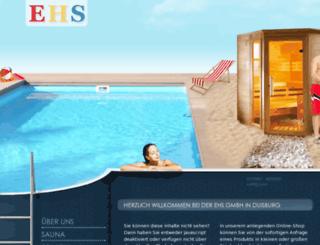 ehs-schwimmbadbau.de screenshot