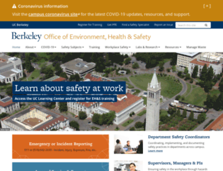 ehs.berkeley.edu screenshot