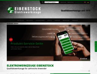 eibenstock.com screenshot