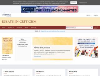 eic.oxfordjournals.org screenshot