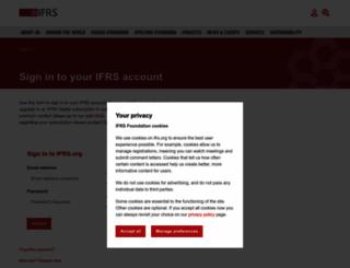 eifrs.ifrs.org screenshot