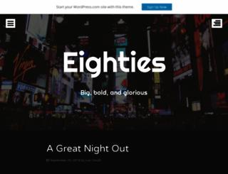 eightiesdemo.wordpress.com screenshot