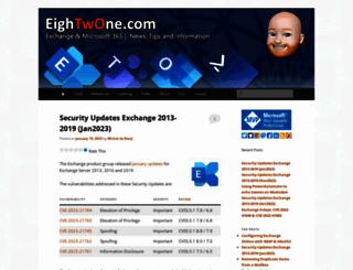 eightwone.com screenshot