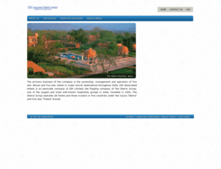 eihassociatedhotels.in screenshot