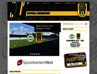 eikfotball.no screenshot