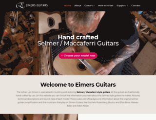 eimersguitars.com screenshot