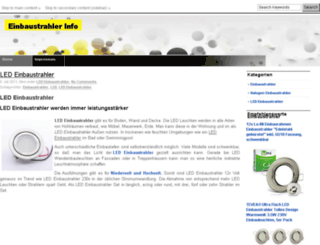 einbaustrahler-info.de screenshot