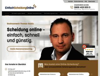 einfach-scheidung-online.de screenshot
