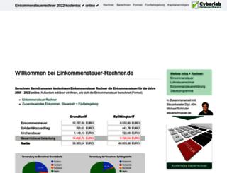 einkommensteuer-rechner.de screenshot
