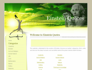 einstein-quotes.com screenshot
