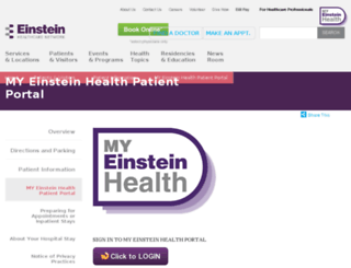 einstein.iqhealth.com screenshot