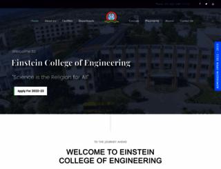 einsteincollege.ac.in screenshot