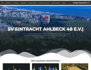 eintracht-ahlbeck.com screenshot