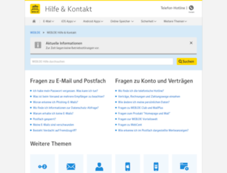 eintragsservice.web.de screenshot