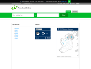 eircomphonebook.ie screenshot