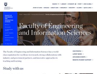 eis.uow.edu.au screenshot