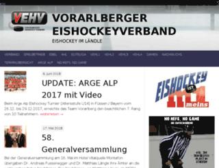 eishockey-vbg.at screenshot