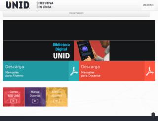 ejecutivaenlinea.unid.mx screenshot