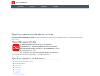 ejerciciosweb.com screenshot