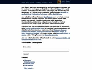 ejohn.org screenshot
